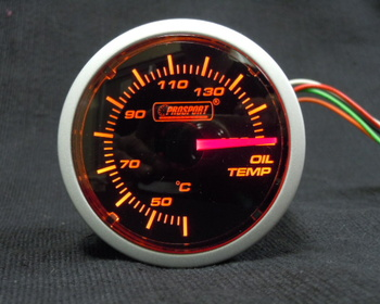 Pro Sport Performance - Brand new! 2 in oil temperature gauge (black face W / A).