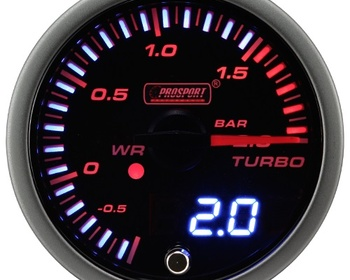 "Pro Sport Performance - New 2"" Boost Meter Blackface/Digital"